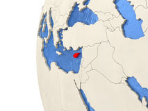 Cyprus on 3D globe Royalty Free Stock Images