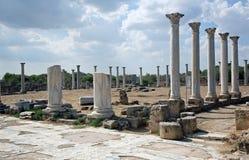 cyprus De oude stad van Salami royalty-vrije stock afbeeldingen