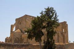 cyprus De ruïnes van de oude die Kerk in de stad van Famagusta, door de Venetianen in de XIVXV eeuwen wordt gebouwd Royalty-vrije Stock Afbeeldingen