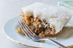 Cyprus Dessert also called Trilece / Kibris Tatlisi / Muhallebi Milk Pudding with Walnut and Breadcrumbs.