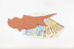 (Crisis van Cyprus van het Concept de financiële) Royalty-vrije Stock Afbeelding