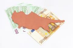 De financiële crisis van Cyprus van het concept) Stock Foto's