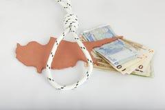 De financiële crisis van Cyprus van het concept Stock Afbeeldingen