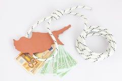 De financiële crisis van Cyprus van het concept Stock Fotografie
