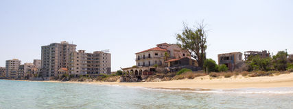 Cyprus. Famagusta. Hotels, abandoned forty years ago. Royalty Free Stock Photography