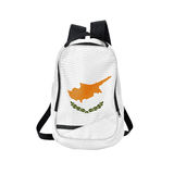 Cyprus flag backpack isolated on white Royalty Free Stock Image