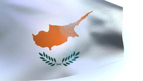 Cyprus Flag blowing in the wind waving wave stock footage