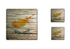 Cyprus Flag Buttons Stock Photos