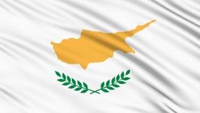 Cyprus flag. stock footage