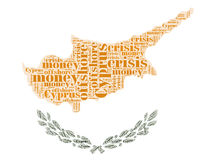 Cyprus flag in typography words Stock Images