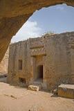 cyprus görar till kung paphostombs Fotografering för Bildbyråer