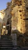 Cyprus girne harbor. Sea castle Stock Images