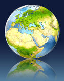 Cyprus on globe with reflection. Illustration with detailed planet surface. Elements of this image furnished by NASA Stock Images