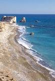 Cyprus. Greece, Cyprus, the Petra Tou Romiou coast Aphrodites` Rock who, according to legend, it is the birthplace of Aphrodite Stock Photo