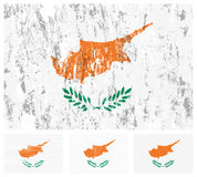 Cyprus grunge flag set Stock Photo