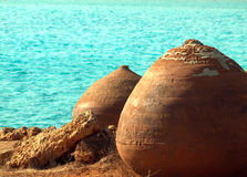 Cyprus historic pots Royalty Free Stock Photo