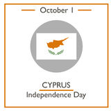 Cyprus Independence Day, October 1 Royalty Free Stock Photography