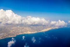 Cyprus island shore aerial view Royalty Free Stock Image
