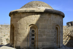 Cyprus, Kyrenia. Cyprus, cupola of Saint George chapel in fortress of Kyrenia aka Girne royalty free stock photos