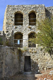 Cyprus, Kyrenia. Cyprus, tower in medieval ruins of Saint Hilarion castle near Kyrenia aka Girne royalty free stock photos