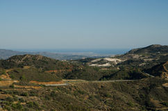 Cyprus landscape. (Near Lefkara, Larnaca region Royalty Free Stock Images