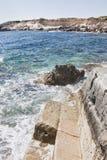 Cyprus, Paphos. Coastline of mediterranean sea royalty free stock image