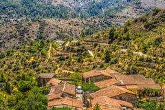 Cyprus, Lazanias, Village, Roofs Stock Image