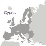 cyprus map design Royalty Free Stock Image