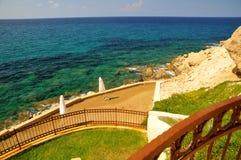 cyprus medelhavs- havssikt Royaltyfri Foto
