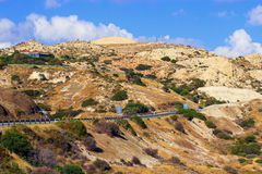 Cyprus - Mediterranean island. Cyprus - Island in Mediterranean Sea with rocky mountains countryside and amazing experiences Stock Image