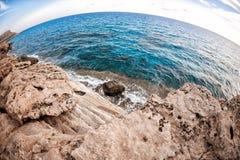 Cyprus - Mediterranean Sea coast. Sea Caves near Ayia Napa. Royalty Free Stock Image