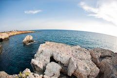 Cyprus - Mediterranean Sea coast. Sea Caves near Ayia Napa. Stock Photos