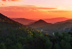 Cyprus mountains Stock Photography