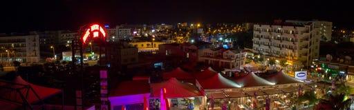 cyprus Nachtmening van Protaras Royalty-vrije Stock Foto's