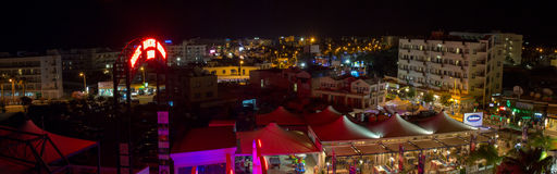 Cyprus. Night view of Protaras Royalty Free Stock Photos