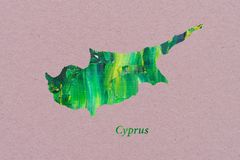 Artistic Map of Cyprus vector illustration
