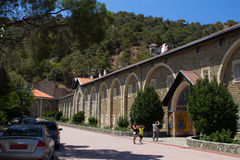 cyprus Panorama av kloster Kikkos Arkivfoto