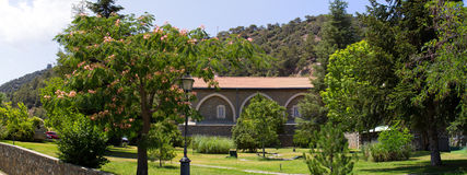 Cyprus. Panorama of Kikkos monastery. Stock Photography