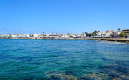 Cyprus 2011. Paphos Bay. Panorama of the seafront. JPEG. SRGB Royalty Free Stock Images