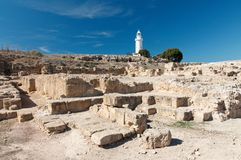 Cyprus, Paphos lighthouse Royalty Free Stock Photos
