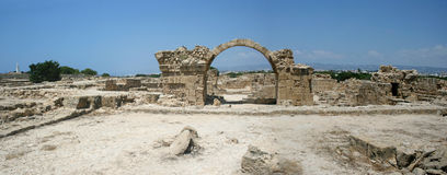 cyprus Paphos Saranta Kolones Stock Afbeelding