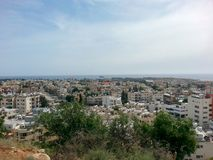 Cyprus Paphos skyline and city scene stock images