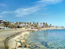 Cyprus. Pathos beach Royalty Free Stock Images