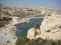 Cyprus. Petra tou Romio Stock Afbeeldingen
