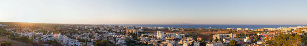 Cyprus. Protaras. Top view of the panorama of Protaras at sunset. Stock Images