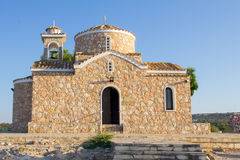 Cyprus. Protaras. View of the old Church standing on a rock. Stock Image