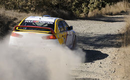 Cyprus Rally championship. Larnaca,CYPRUS  November  28 : The last race of Cyprus Rally for the  championship in Kornos area, Cyprus Stock Photos