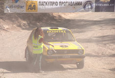 Cyprus Rally championship. Larnaca,CYPRUS  November  28 : The last race of Cyprus Rally for the  championship in Kornos area, Cyprus Royalty Free Stock Image