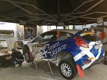Cyprus Rally Pit stop Stock Photos