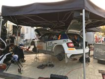 Cyprus Rally Pit stop Royalty Free Stock Photos